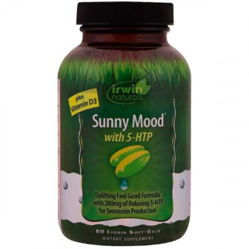 Irwin Naturals Sunny Mood With 5-HTP Plus Vitamin D3 Liquid Soft-Gels (80 капс.)