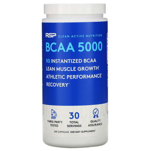 RSP Nutrition BCAA 5000 (240 капс.)
