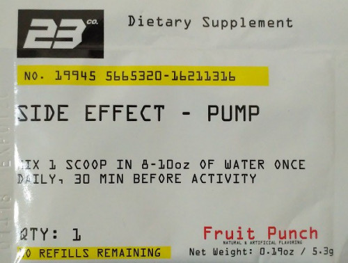 23 Co. Side Effect Pump (1 порция)