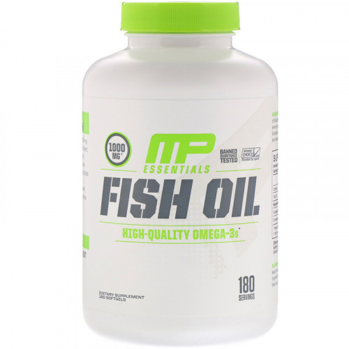 MusclePharm Essentials Fish Oil Softgels (180 капс.)