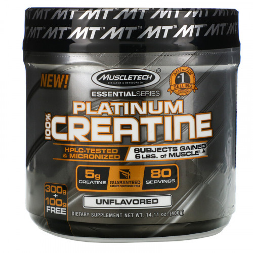 MuscleTech Platinum 100% Creatine Essential Series (400 гр.)