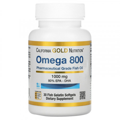 California Gold Nutrition Omega 800 by Madre Labs 1000 мг Softgels (30 капс.)
