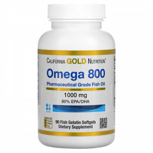 California Gold Nutrition Omega 800 by Madre Labs 1000 мг Softgels (90 капс.)
