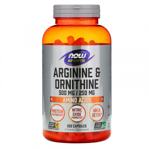 Now Foods Arginine Ornithine 500-250 (250 капс.)