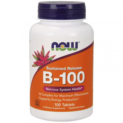 Now Foods B-100 Sustained Release (100 таб.)