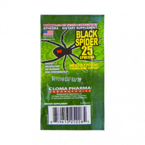 Cloma Pharma Black Spider 25 Ephedra (2 порции)