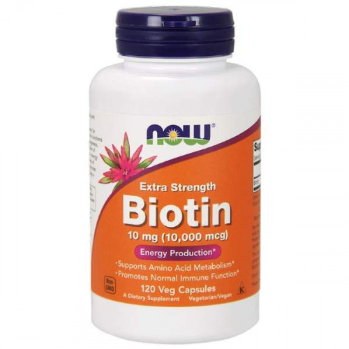 Now Foods Biotin Extra Strength 10 мг (10000 mcg) Veg (120 капс.)