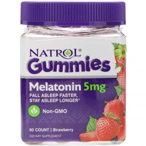 Natrol Gummies Melatonin 5 мг (90 мармеладок)