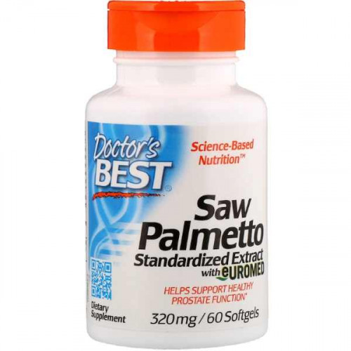 Doctor's Best Saw Palmetto Standardized Extract with Euromed 320 мг (60 капс.)