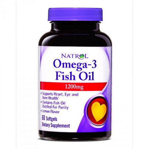 Natrol Omega-3 Fish Oil 1200 мг Softgels (60 капс.)