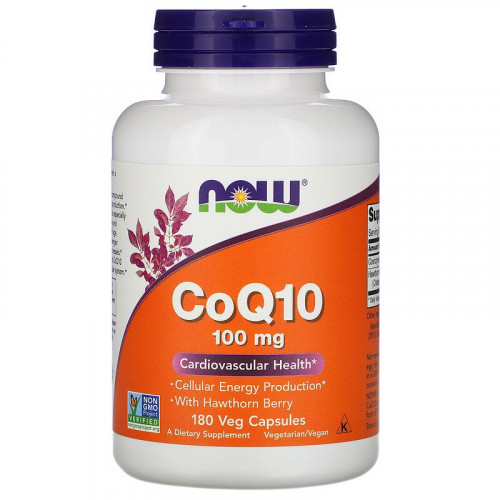 Now Foods CoQ10 100 mg with Hawthorn Berry Veg (180 капс.)