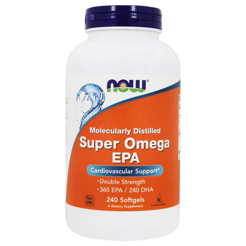 Now Foods Super Omega EPA Molecularly Distilled Softgels (240 капс.)