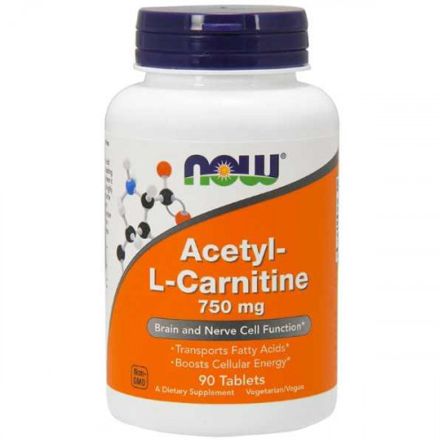 Now Foods Acetyl L-Carnitine 750 мг (90 таб.)