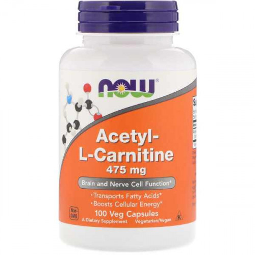 Now Foods Acetyl-L-Carnitine 475 mg Veg (100 капс.)