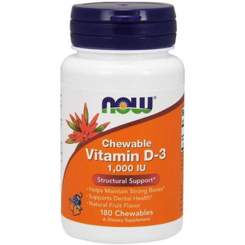 Now Foods Chewable Vitamin D-3 1000 IU (180 таб.)