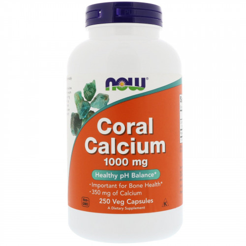 Now Foods Coral Calcium 1000 мг Veg (250 капс.)