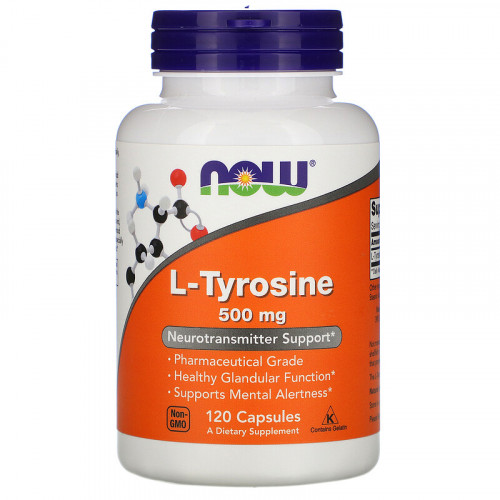 Now Foods L-Tyrosine 500 мг (120 капс.)