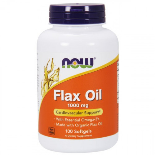 Now Foods Organic Flax Oil 1000 мг (100 капс.)
