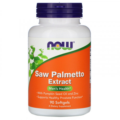Now Foods Saw Palmetto Extract With Pumpkin Seed Oil and Zinc 160 мг Softgels (90 капс.)