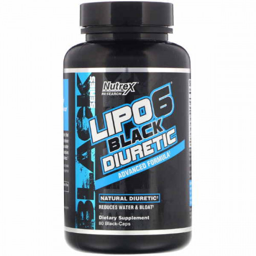 Nutrex Research Lipo-6 Black Diuretic Black-Caps (80 капс.)