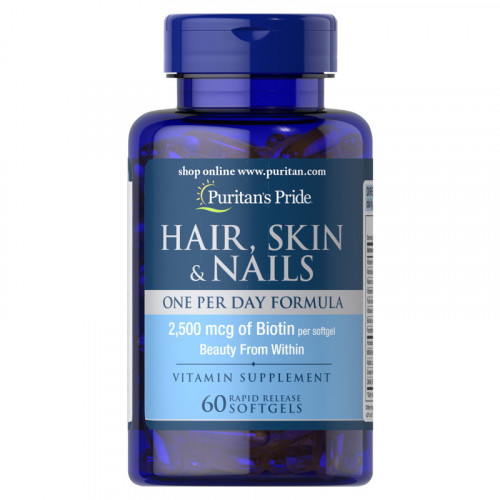 Puritans Pride Hair Skin Nails One Per Day Formula Softgels (60 капс.)