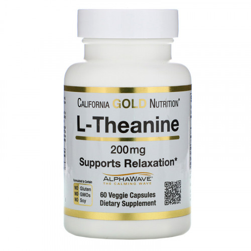 California Gold Nutrition L-Theanine AlphaWave 200 мг (60 капс.)