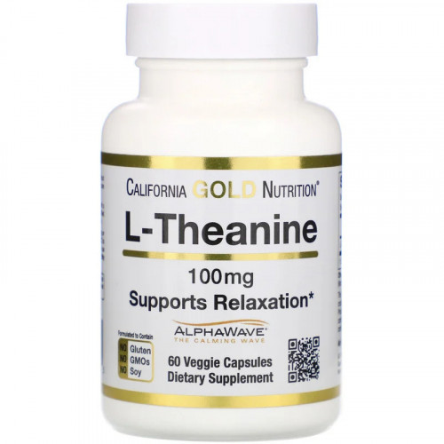 California Gold Nutrition L-Theanine AlphaWave 100 мг (60 капс.)