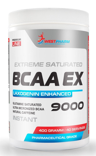 WestPharm BCAA EX 9000 with Laxogenin (400 гр.)