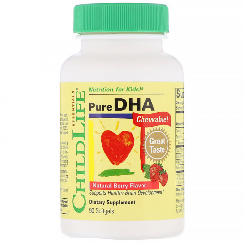 ChildLife Pure DHA Natural Berry Flavor Softgels (90 капс.)